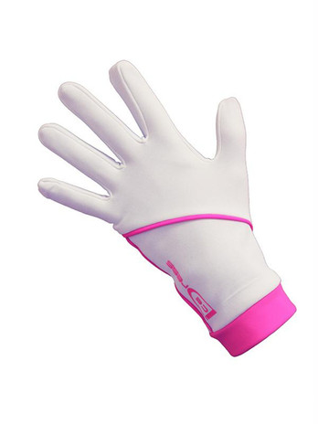 """Icedress - Thermal Figure Skating Gloves """"IceDress"""" (White and Hot Pink)"""