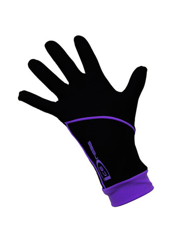 "Icedress - Thermal Figure Skating Gloves ""IceDress"" (Black and Purple)"