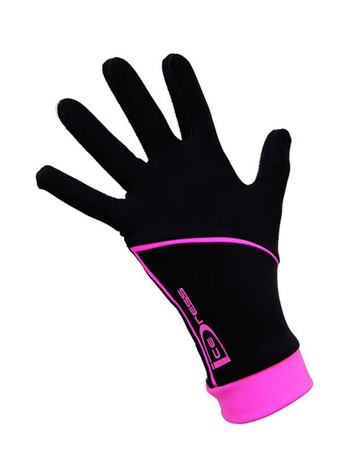 "Icedress - Thermal Figure Skating Gloves ""IceDress"" (Black and Hot Pink)"