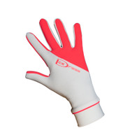 "IceDress - Thermal Figure Skating Gloves ""IceDress-Sport"" (White and  Coral)"
