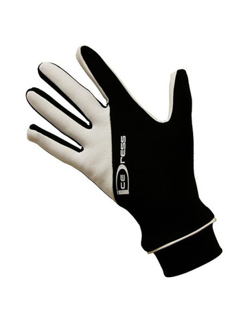 "Icedress - Two Color Thermal Figure Skating Gloves ""IceDress-Sport"" (Black and White)"