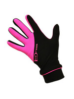 """Icedress - Two Color Thermal Figure Skating Gloves """"IceDress-Sport"""" (Balck and Hot Pink)"""