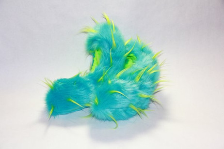 Crazy Fur Soakers CF02T - Turquoise and Lime