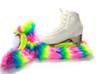 Crazy Fur SoakersCF15P - Rainbow