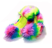 Crazy Fur Soakers CF15 - Rainbow