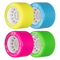 Riedell Skates Radar Pop 59mm Indoor Skate Wheels (Set of 4)