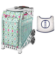 Zuca Sport Bag - Chevron with Gift Seat Cover (White Frame)