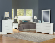 White Finish 4 Drawer Chest