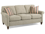 Audrey Transitional Loveseat with Rolled Arms