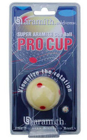 "Aramith Pro Cup 6 Red Dot TV ""Measles"" Cue Ball"