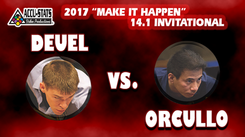Deuel played near flawless pool. Orullo conceded the last rack