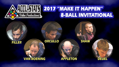 "The 2017 ""Make It Happen"" 8-Ball Invitational Star Set"