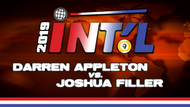 I9B2-16*: Darren Appleton vs. Joshua Filler*