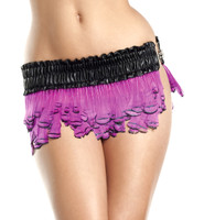 Pheasant Feather Mini Skirt