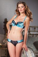 Satin Shelf Bra and Panty Set