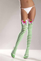 Strawberry Striped Thigh Highs