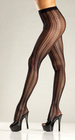Striped Fishnet Pantyhose