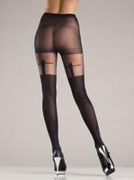 Sheer Shadow Cross Pantyhose