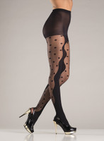 Opaque Pantyhose with Polka Dot Design