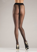 Black Sparkle Pantyhose