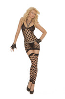 Diamond Net Dress, G-String and Thigh Highs