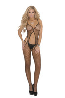 Diamond Net Suspender Bodystocking