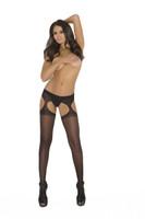Black Sheer Suspender Pantyhose