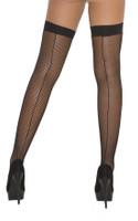 Back Seam Fishnet Thigh High Stockings