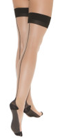 Cuban Heel Thigh High Stockings