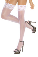 Silicone Lace Top Thigh Highs