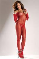 Sexy Long Sleeve Fishnet Bodystocking