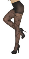Criss Cross Sheer Pantyhose