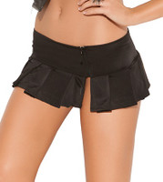 Pleated Skirt with Side Zipper