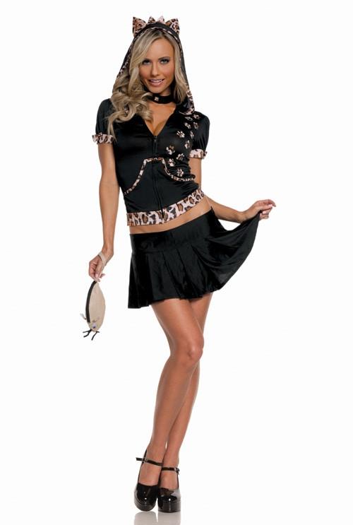 12483378f906 Sexy Elegant Moments Black Leopard Print Feisty Feline Kitty Cat Kitten  Costume