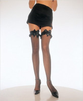 Ruffles and Bows Fishnet Thigh Highs