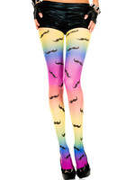 Rainbow Mustache Tights