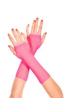 Diamond Net Fingerless Gloves