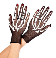 Fishnet Skeleton Gloves