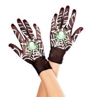 Fishnet Spiderweb Gloves