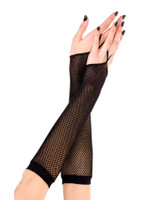 One Finger Fishnet Gloves