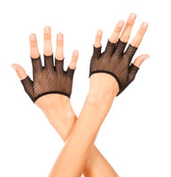 Fingerless Fishnet Mini Gloves
