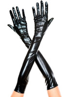 Opera Length Metallic Gloves