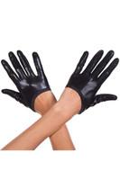 Short Wet Look Gloves
