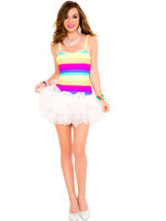 Rainbow Tutu Mini Dress