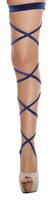 Velvet Leg Straps with Attached Garters
