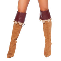 Faux Leather Boot Cuffs