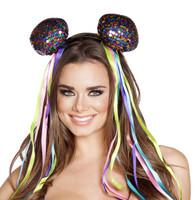 Multi-Colored Sequin Head Piece