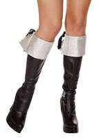 Silver Glitter Boot Cuffs