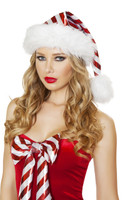 Metallic Striped Christmas Hat