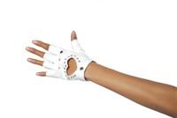 Heart Cutout Biker Gloves